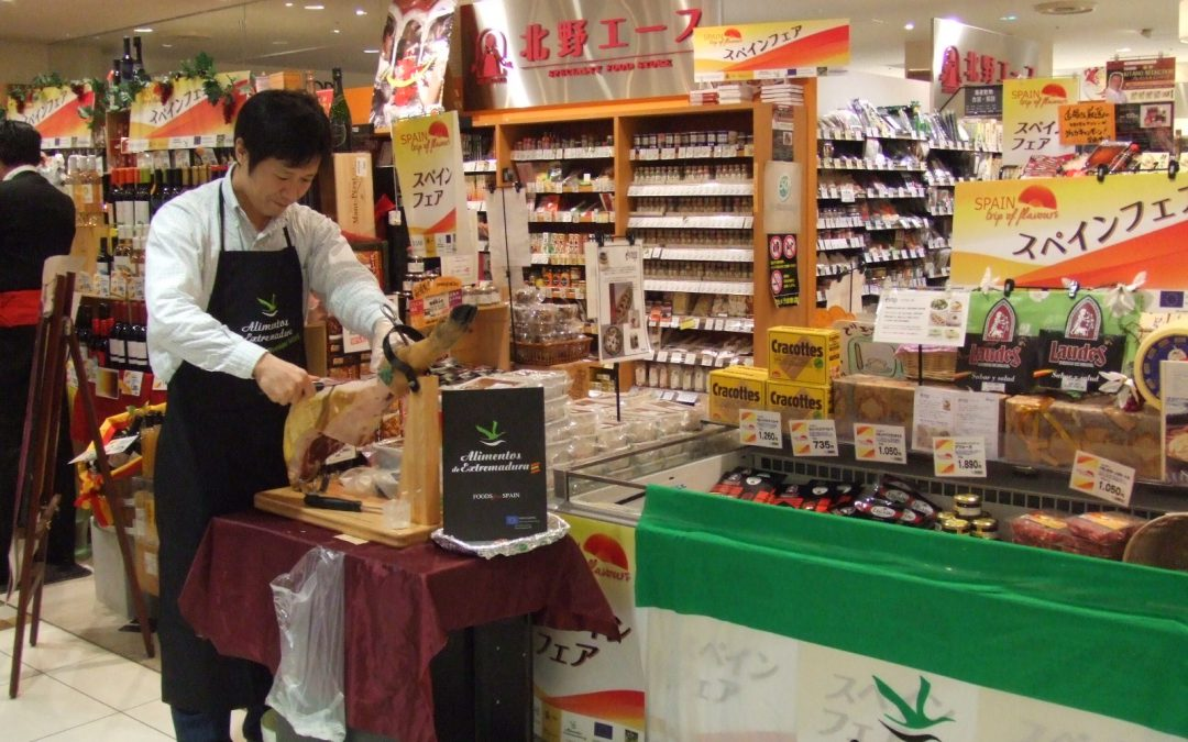 Alimentos de Extremadura se promociona por primera vez en Japón en colaboración con la Federación Española de Industrias de la Alimentación y Bebidas, FIAB.