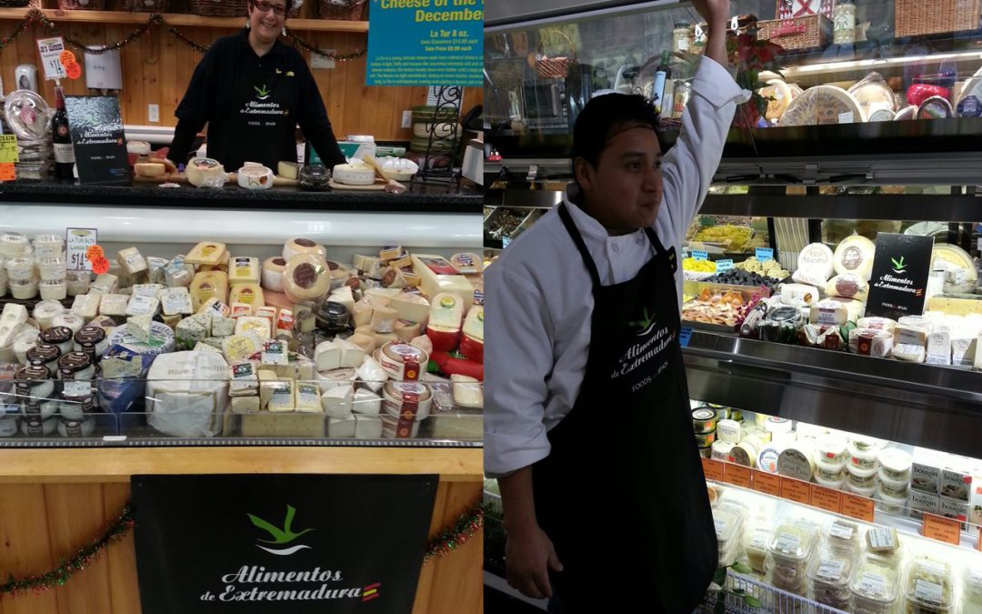 Alimentos de Extremadura realiza la primera promoción en tiendas gourmet de Estados Unidos con el queso como protagonista