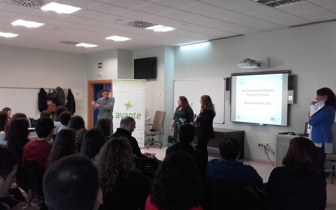 Un total de 66 alumnos finalizan los programas de formación en materia de Internacionalización de Extremadura Avante preparados para incorporarse al mundo laboral