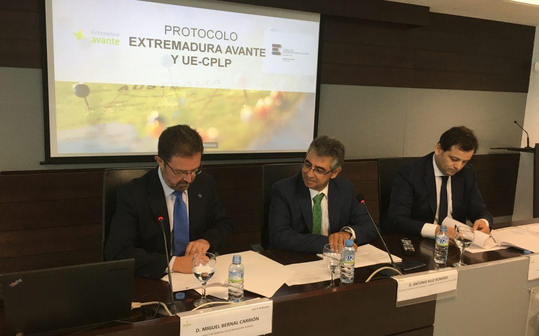 Extremadura Avante firma un protocolo de colaboración con la Unión de Exportadores de la CPLP