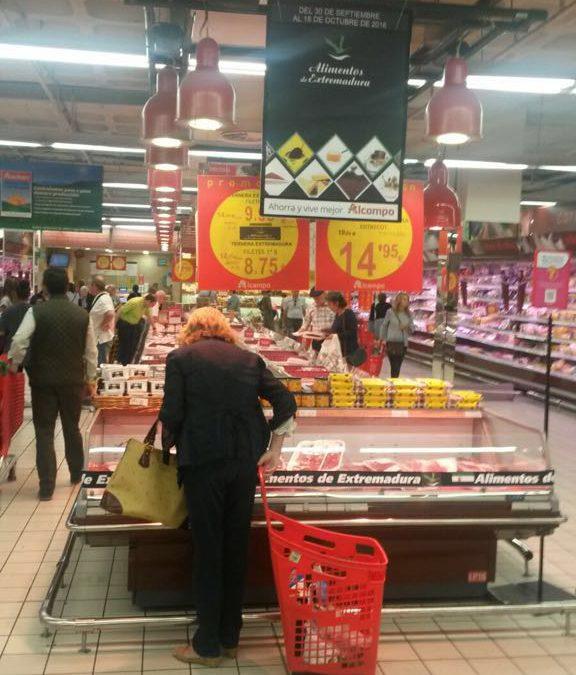 """""""Alimentos de Extremadura"""" se promocionará en 22 hipermercados de Alcampo durante 17 días"""