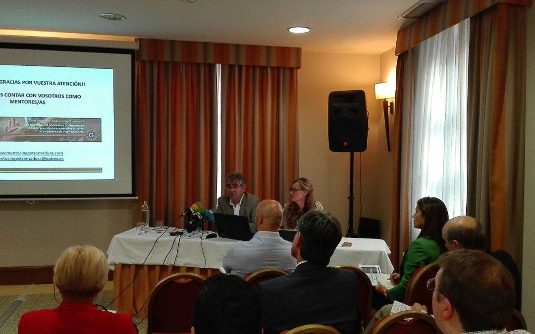 La Junta de Extremadura organiza la jornada de presentación del programa Mentoring Empresarial