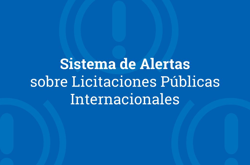 Sistema de Alertas sobre Licitaciones Públicas Internacionales