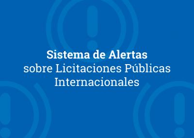 Sistema de Alertas sobre Licitaciones Públicas Internacionales 2019