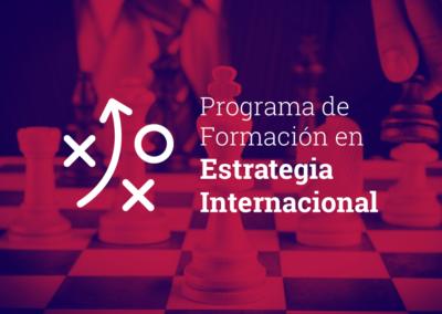 Programa de Formación en Estrategia Internacional 2019