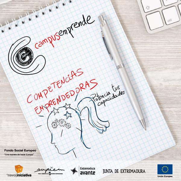 Abierta la convocatoria para participar en el curso de Competencias Emprendedoras de Campus Emprende
