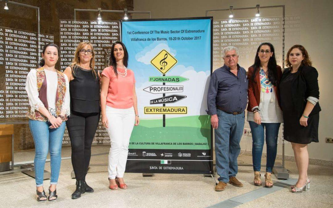 Las I Jornadas Profesionales de la Música de Extremadura se celebrarán en Villafranca de los Barros, del 18 al 20 de octubre, y cuentan con medio centenar de inscritos