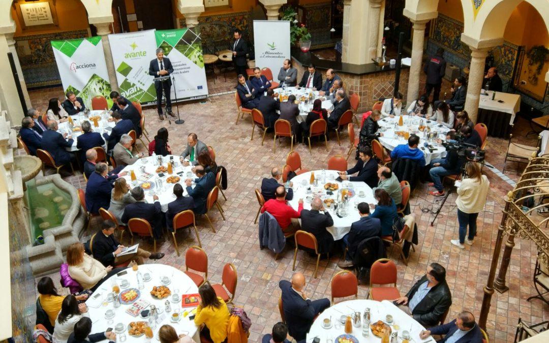 Cincuenta empresas extremeñas participan en el Encuentro Empresarial con el Consejo de los Embajadores Árabes en Mérida