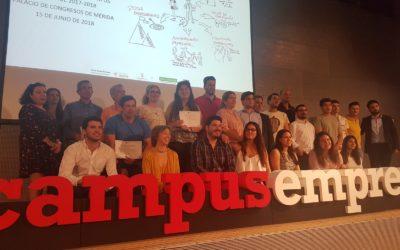 Reconocimiento al talento extremeño en la segunda edición de Campus Emprende