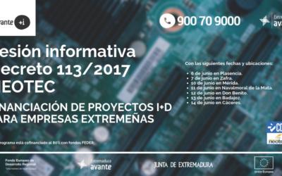 SESIÓN INFORMATIVA DECRETO 113/2017 Y NEOTEC