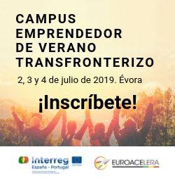 Abierta la convocatoria para participar en el Campus Emprendedor de Verano Transfronterizo «Euroacelera» que se desarrollará del 2 al 4 de julio en Évora