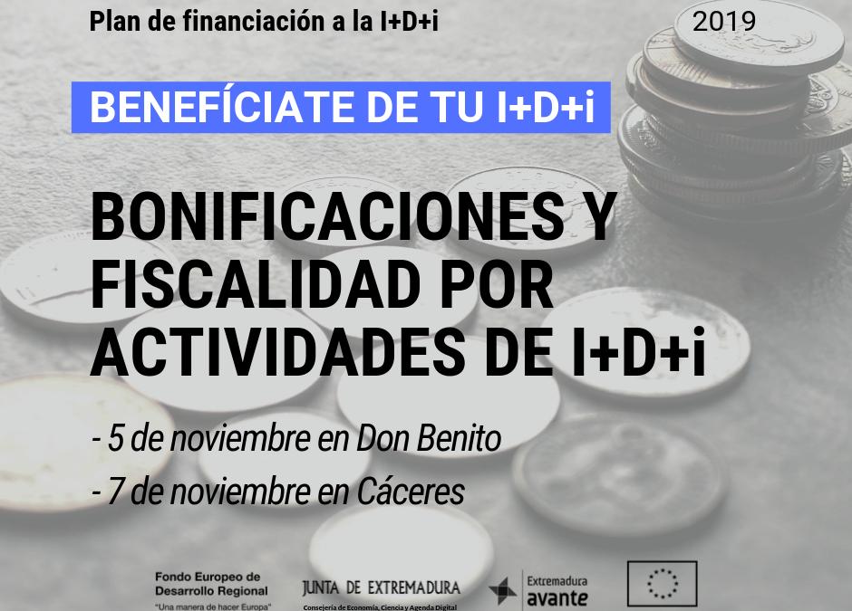 BONIFICACIONES Y FISCALIDAD POR ACTIVIDADES DE I+D+i
