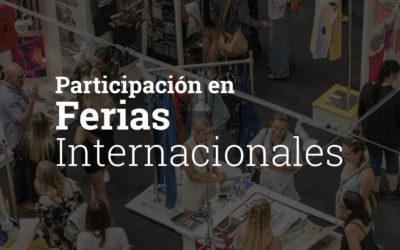 Apoyo a la participación en las ferias internacionales en el Pabellón Español 2020