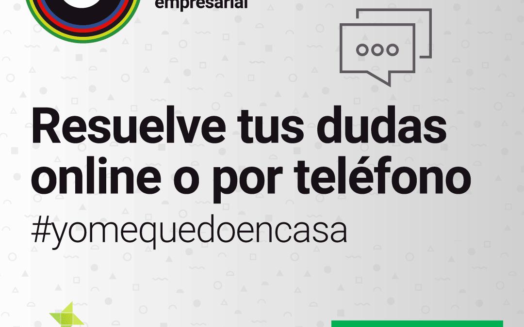 La red de Puntos de Acompañamiento Empresarial presta servicio telemático y telefónico durante el estado de alarma