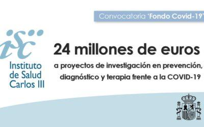 24M€ PARA FINANCIAR PROYECTOS DE INVESTIGACIÓN