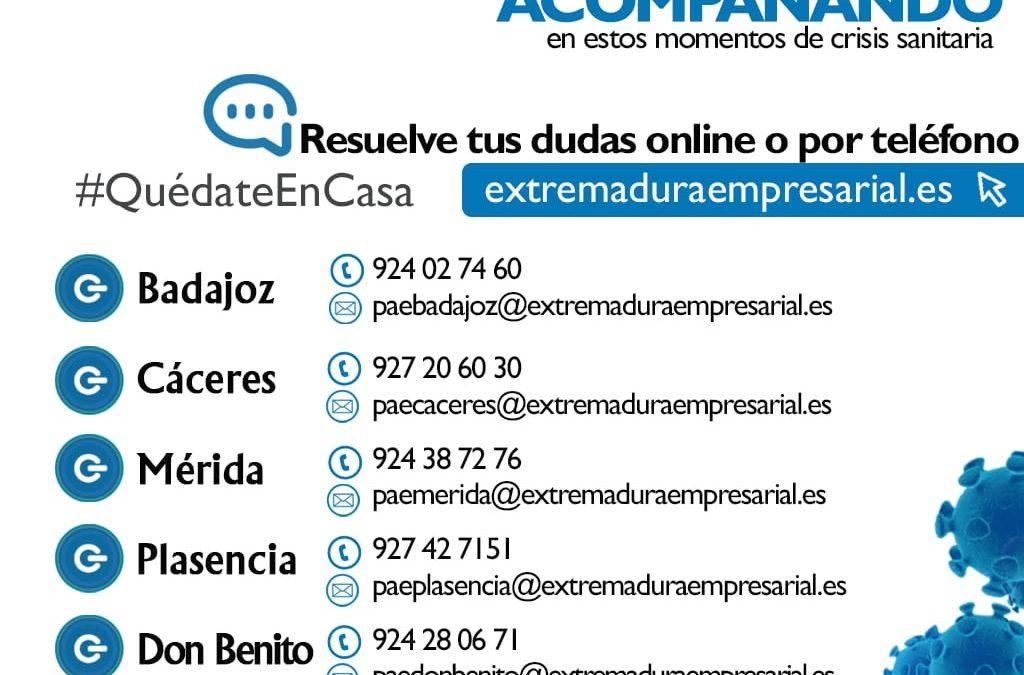 La red PAE atiende más de 1.100 consultas telemáticas durante el estado de alarma