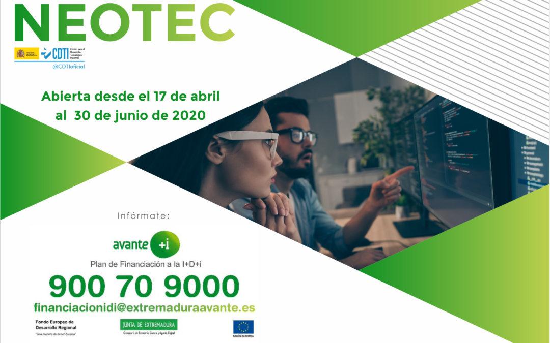 CONVOCATORIA NEOTEC 2020