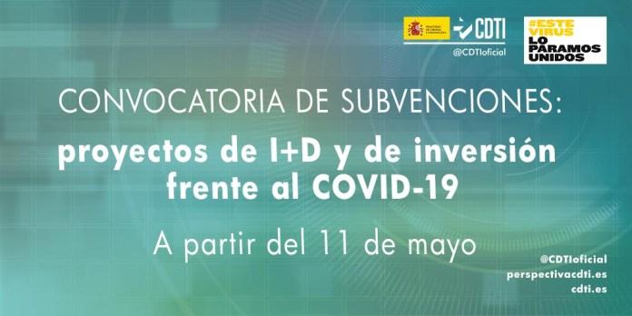 12 M€ PARA PROYECTOS DE I+D FRENTE AL COVID-19
