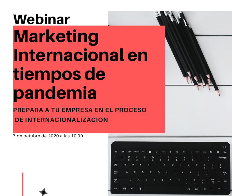 Webinario: Marketing Internacional en tiempos de pandemia.