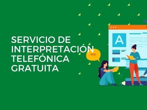 Servicio de interpretación telefónica gratuita