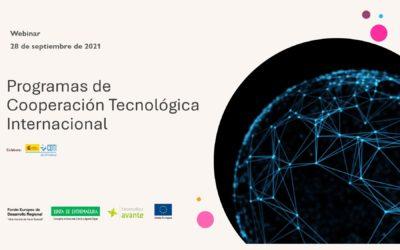 Webinar Programas de Cooperación Tecnológica Internacional